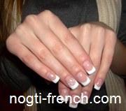 Французский маникюр Винница - френч нарастить ногти гель лак (биогель) акрил фото
